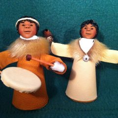 Alaska Native Children – Dancer and Drummer set